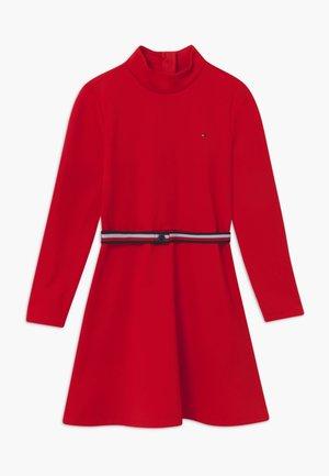 ESSENTIAL SKATER - Jersey dress - deep crimson