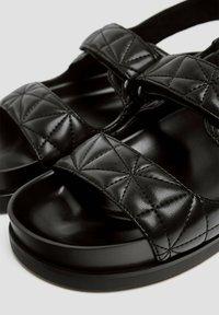 PULL&BEAR - Platform sandals - black - 4