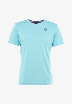 TED TECH TEE - Print T-shirt - light blue/dark blue