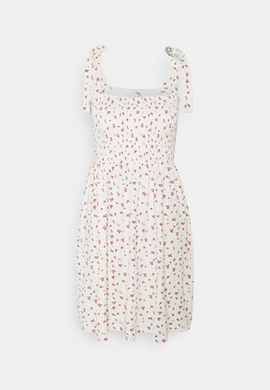 ONLFENJA LIFE SMOCK  DRESS  - Korte jurk - cloud dancer/red