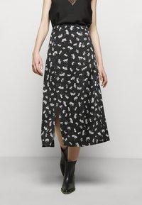 maje - JISEILLE - A-line skirt - groseilles noir - 0