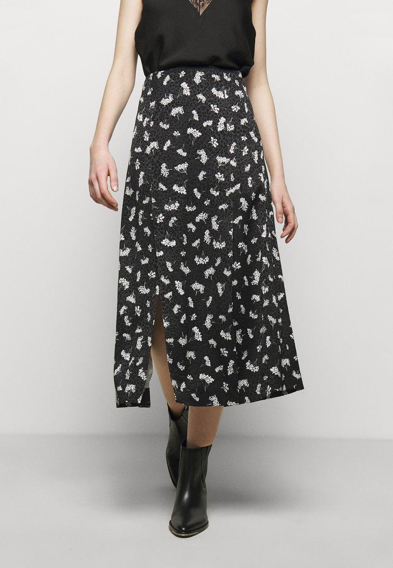 maje - JISEILLE - A-line skirt - groseilles noir