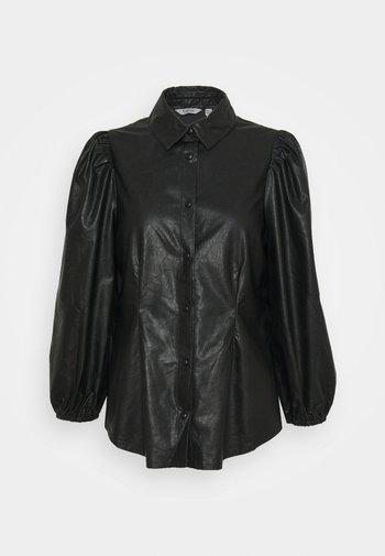 BYESONI SHIRT - Button-down blouse - black