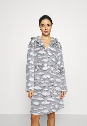 CLOUD SHERPA HOODED ROBE - Badjas - grey
