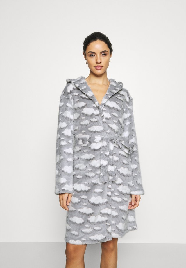 CLOUD SHERPA HOODED ROBE - Albornoz - grey