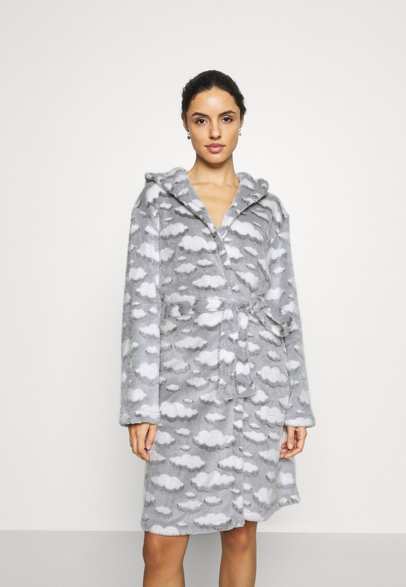 Loungeable - CLOUD SHERPA HOODED ROBE - Dressing gown - grey