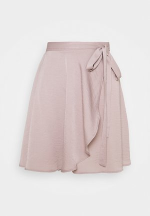 WRAP AROUND MINI SKIRT - Mini skirt - dusty lilac