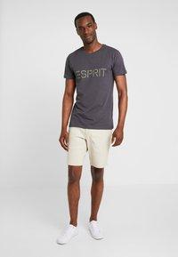 Esprit - ICON 2 PACK - T-shirt z nadrukiem - anthracite - 0