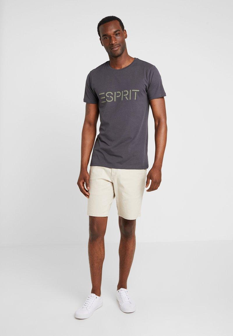 Esprit - ICON 2 PACK - T-shirt z nadrukiem - anthracite