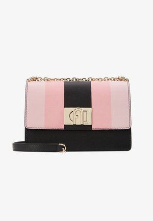 MINI CROSSBODY BLOCK - Across body bag - rosa/chiaro/nero