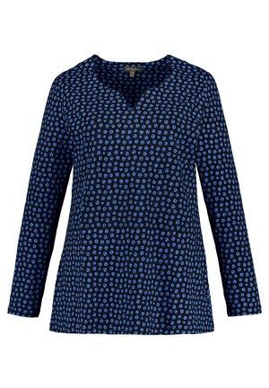 Long sleeved top - marine-azurblau