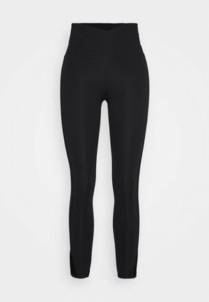 YOGA CORE CUTOUT 7/8 - Legginsy - black/dark smoke grey
