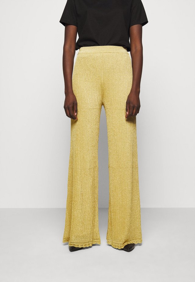 PANTALONE - Trousers - gold
