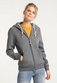 Schmuddelwedda - Zip-up sweatshirt - steingrau melange - 0