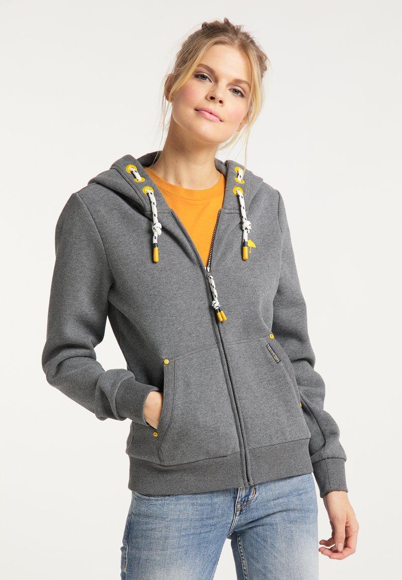 Schmuddelwedda - Zip-up sweatshirt - steingrau melange