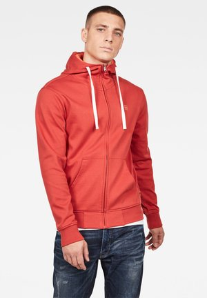 2-TONE HOODED ZIP THROUGH - Zip-up hoodie - antic red