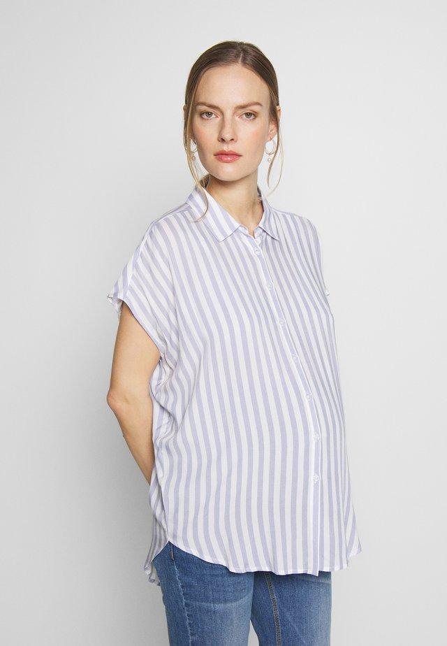 QUINN RELAXED  - Button-down blouse - blue/white