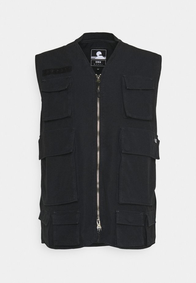 TACTICAL VEST - Smanicato - black wash