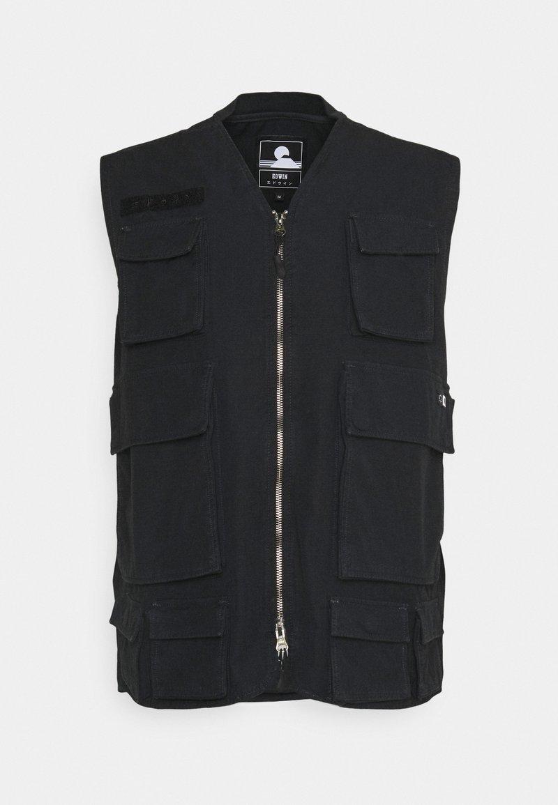 Edwin - TACTICAL VEST - Waistcoat - black wash