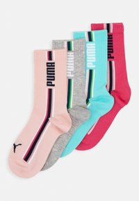 Puma - GIRLS SEASONAL STRIPE SOCK 4 PACK - Ponožky - mixed colors/grey melange - 0