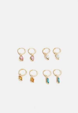 PCLARSIGNE EARRINGS 4 PACK - Korvakorut - gold-coloured/multi