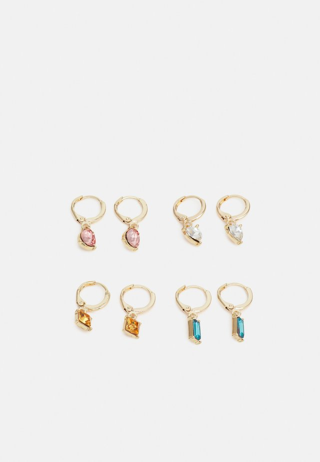 PCLARSIGNE EARRINGS 4 PACK - Øredobber - gold-coloured/multi