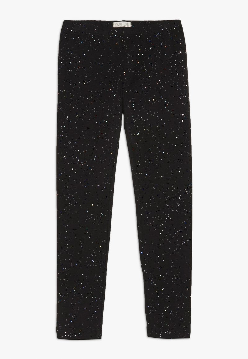OVS - SPRAY GLITTER - Leggings - black beauty