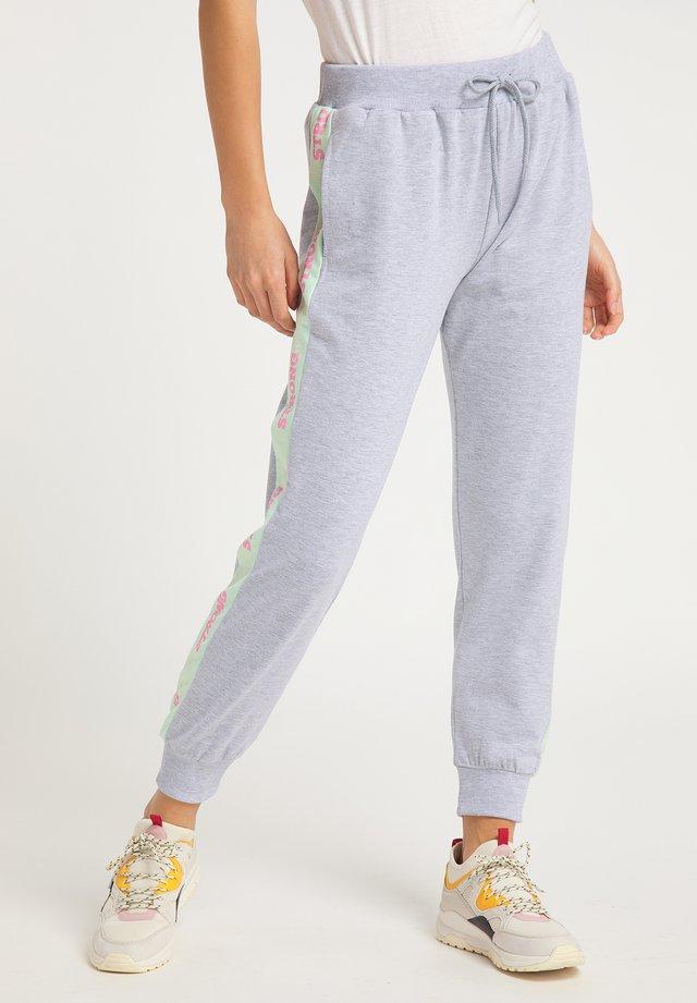 Pantalones deportivos - hellgrau mint