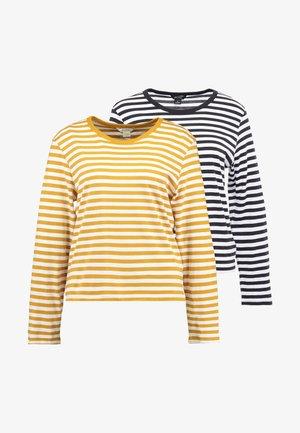 URSULA - Pitkähihainen paita - black/white /yellow