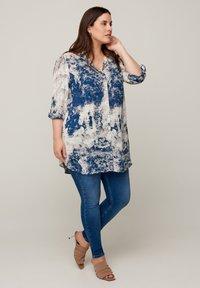 Zizzi - Button-down blouse - dark blue - 0