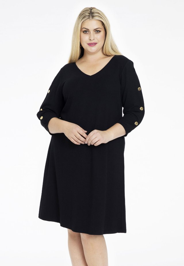 WITH LONG SLEEVES - Korte jurk - black
