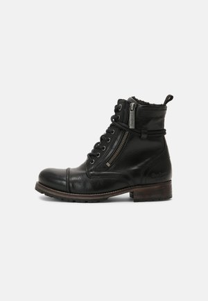 MELTING FURY - Lace-up ankle boots - black