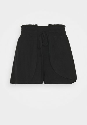 DOUBLE LAYER PETAL HEM SHORT - Sports shorts - black