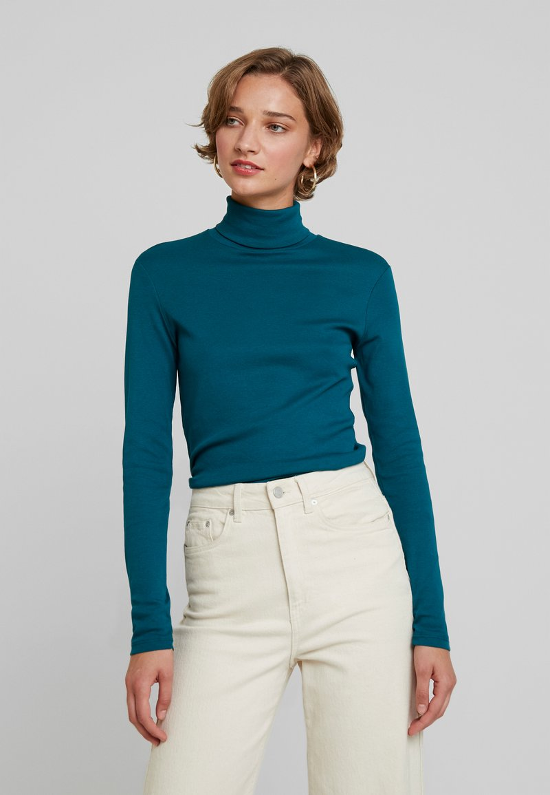 Benetton - TURTLE NECK - Long sleeved top - forest green