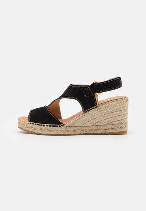 ANIA - Sandalen met plateauzool - schwarz