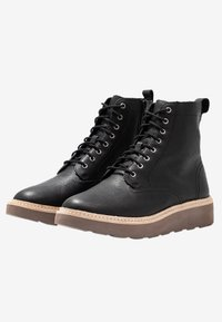 Clarks - TRACE PINE - Lace-up ankle boots - black - 3