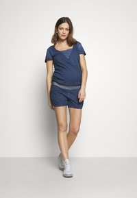 LOVE2WAIT - PLAYSUIT NURSING WASHED - Mono - blue - 1
