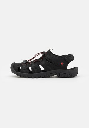 COVE SPORT - Vaellussandaalit - black/red