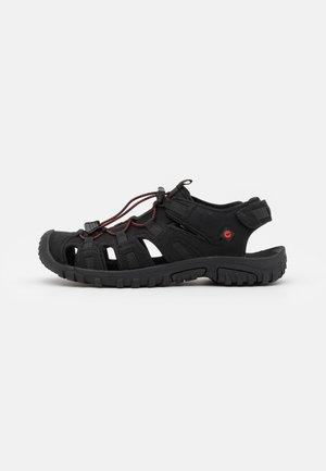 COVE SPORT - Chodecké sandály - black/red
