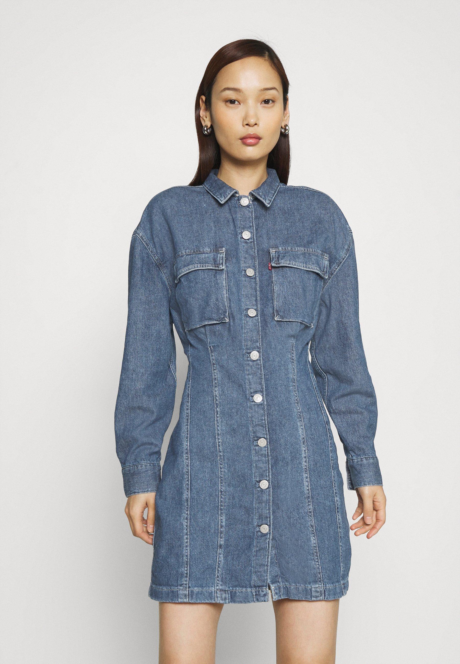 Women BRAELYN UTILITY DRESS - Denim dress