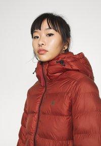 G-Star - WHISTLER SLIM LONG COAT - Zimní kabát - dry red - 4