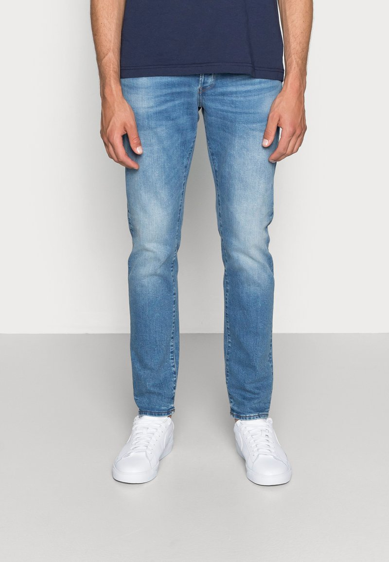 G-Star - 3301 SLIM FIT - Slim fit jeans - authentic faded blue