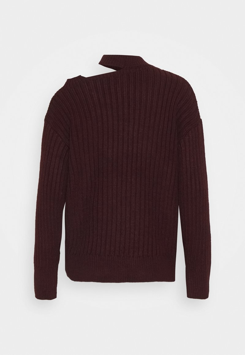River Island DECON SHOULDER CABLE JUMPER - Strickpullover - oxblood/dunkelrot 2wlvst