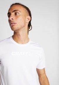 Craft - CORE ESSENCE TEE  - T-Shirt print - white - 4