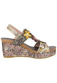 LAURA VITA - Platform sandals - grey - 6