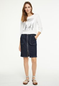 comma casual identity - Long sleeved top - offwhite wording metallic - 1