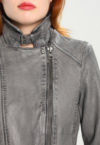 Oakwood - Leather jacket - anthracite - 5