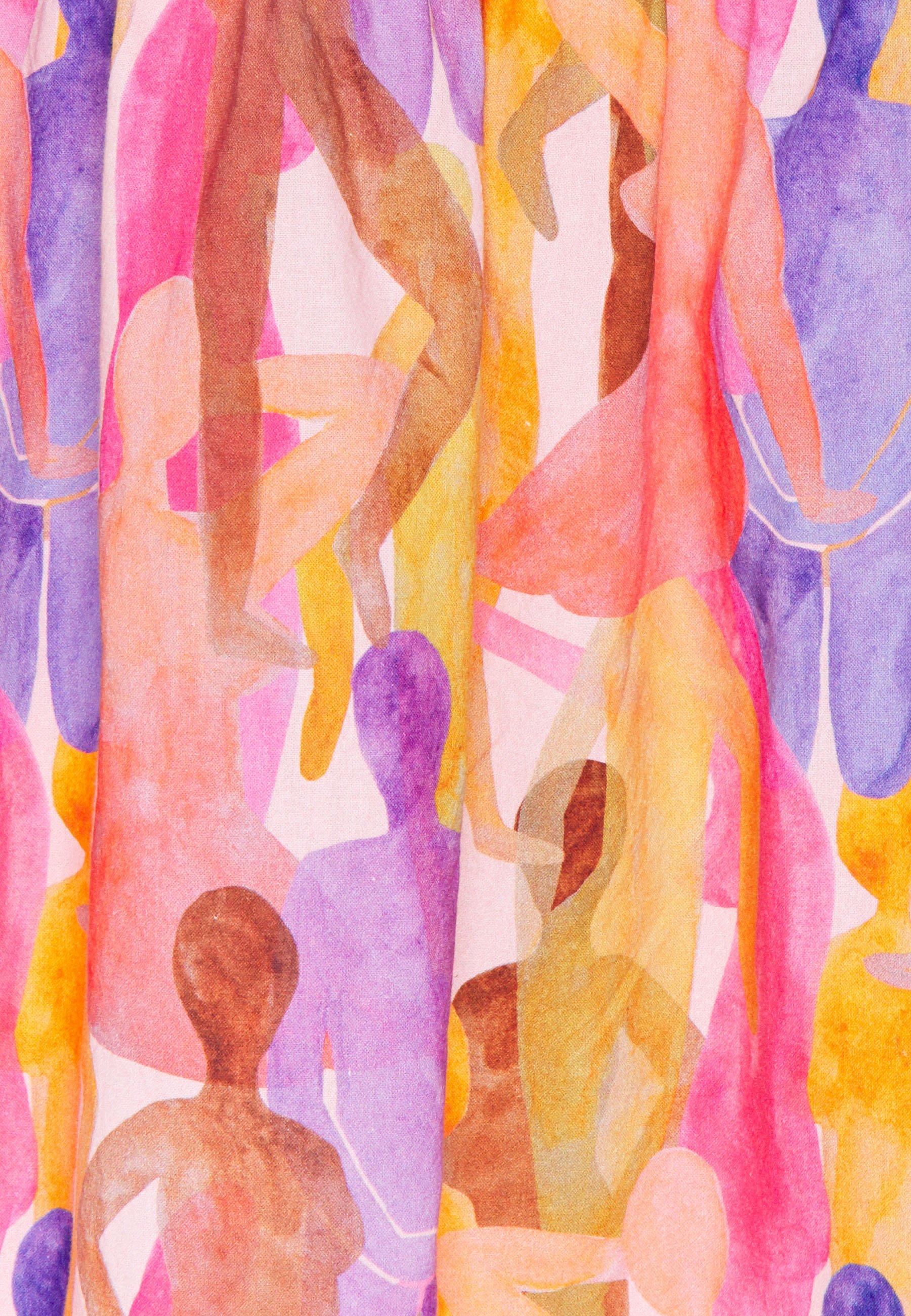 Never Fully Dressed WHO RUN THE WORLD PRINT MINI - Robe d'été - pink - Robes femme e86lZ