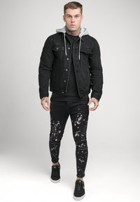 SIKSILK - PAINT SPLATTER RIPPED KNEE  - Jeans Skinny Fit - washed grey - 1
