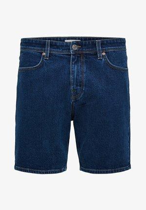 KOMFORTSTRETCH - Denim shorts - medium blue denim